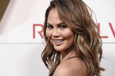 In this Nov. 2, 2017 file photo, model Chrissy Teigen poses at the 2017 Revolve Awards at the Dream Hollywood hotel in Los Angeles. Chrissy Teigen has shared her shock and worry in real-time during a powerful and deadly earthquake in Indonesia with her so