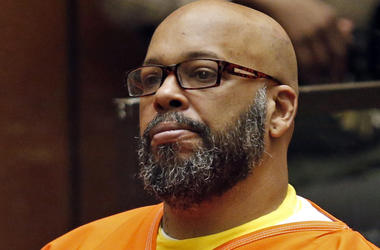 "In this July 7, 2015, file photo, Marion Hugh ""Suge"" Knight sits for a hearing in his murder case in Superior Court in Los Angeles. Knight has pleaded no contest to voluntary manslaughter and after he ran over two men, killing one, nearly four years ago."
