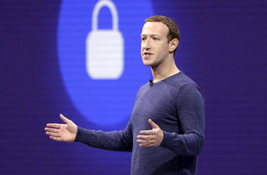 In this May 1, 2018, file photo, Facebook CEO Mark Zuckerberg makes the keynote speech at F8, Facebook's developer conference in San Jose, Calif. Facebook says it recently discovered a security breach affecting nearly 50 million user accounts. In a blog p