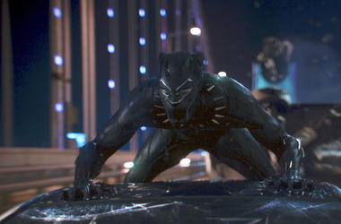 """This image released by Disney shows a scene from Marvel Studios' """"Black Panther."""" On Tuesday, Jan. 22, 2019, the film was nominated for an Oscar for best picture. The 91st Academy Awards will be held on Feb. 24, 2019. (Matt Kennedy/Marvel Studios-Disney v"""
