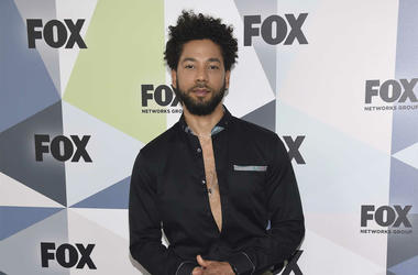 "In this May 14, 2018 file photo, Jussie Smollett, a cast member in the TV series ""Empire,"" attends the Fox Networks Group 2018 programming presentation afterparty in New York. Chicago police have opened a hate crime investigation after a man the departmen"