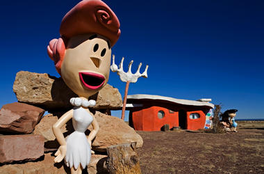 "In this Nov. 11, 2008, file photo, provided by Richard Maack, a Wilma Flintstone figure is seen at the Flintstones Bedrock City theme park near Williams, Ariz. The theme park near the Grand Canyon designed around the ""Flintstones"" cartoon will now be stri"