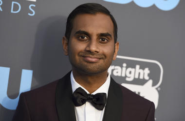 In this Jan. 11, 2018 file photo, Aziz Ansari arrives at the 23rd annual Critics' Choice Awards at the Barker Hangar in Santa Monica, Calif. Ansari said at a standup show in New York that a sexual misconduct allegation was humiliating, but he hopes he's b