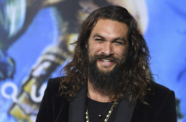 "In this Dec. 12, 2018 file photo, Jason Momoa arrives at the premiere of ""Aquaman"" at TCL Chinese Theatre in Los Angeles.  (Photo by Jordan Strauss/Invision/AP, File)"
