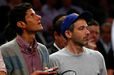 Mike D (Mike Diamond) and Ad-Rock (Adam Horovitz) of the Beastie Boys (© Anthony Gruppuso-USA TODAY Sports)