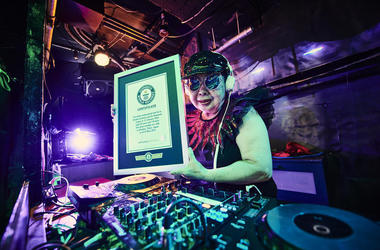 Sumiko Iwamura aka DJ Sumirock (Photo credit: Guinness World Records)