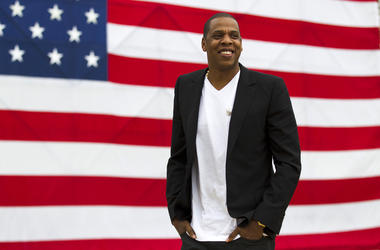 "In this May 14, 2012 file photo, entertainer Jay-Z smiles after a news conference at Philadelphia Museum of Art in Philadelphia.  The rapper says he's disappointed his ""Made in America"" festival will not be held in Philadelphia after this year. The Philad"