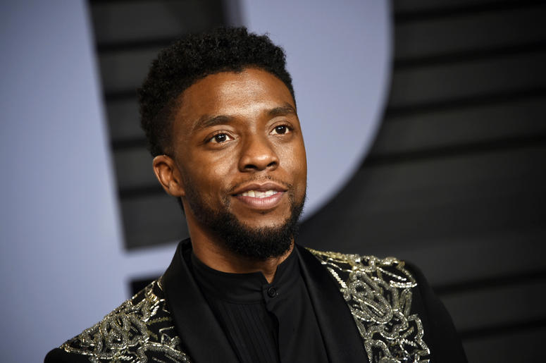 In this March 4, 2018 file photo, Chadwick Boseman arrives at the Vanity Fair Oscar Party in Beverly Hills, Calif. STX Entertainment announced Wednesday, July 11, 2018, that Boseman will star as a disgraced NYPD detective thrust into a citywide manhunt fo