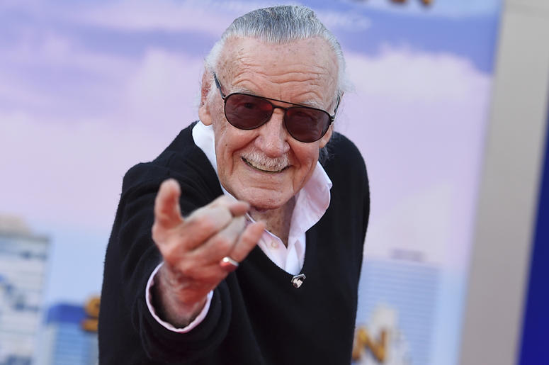 """In this June 28, 2017 file photo, Stan Lee arrives at the Los Angeles premiere of """"Spider-Man: Homecoming"""" at the TCL Chinese Theatre. Lee's restraining order against a former business manager has been extended for three years. A Los Angeles Superior Cour"""