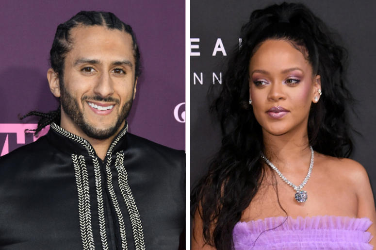 Colin Kaepernick and Rihanna (Photo credit: PA Images/SIPA USA)
