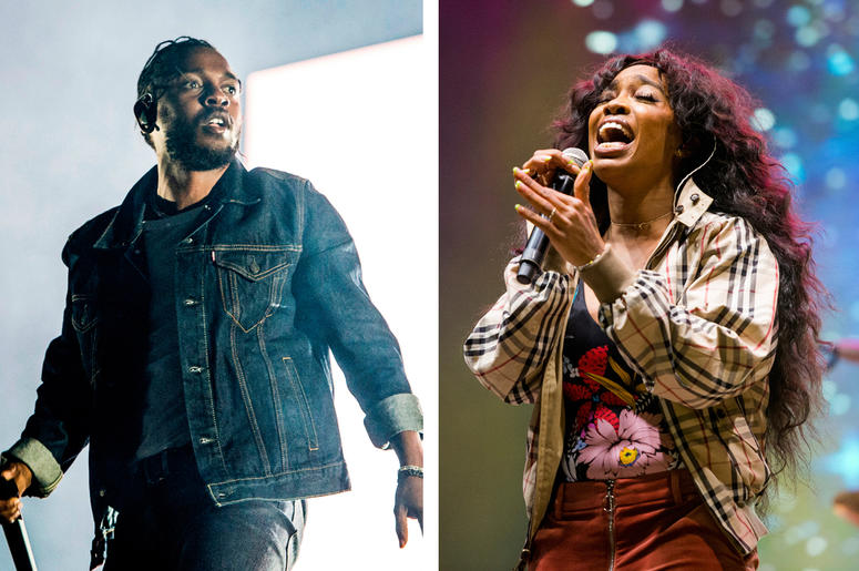 Kendrick Lamar and SZA (Photo credit: Amy Harris/Invision/AP, File)