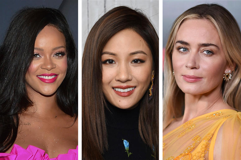 Rihanna, Constance Wu and Emily Blunt (Photo credit: AP Photo)