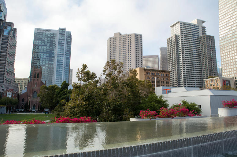 San Francisco Skyline at Yerba Buena Center for the Arts