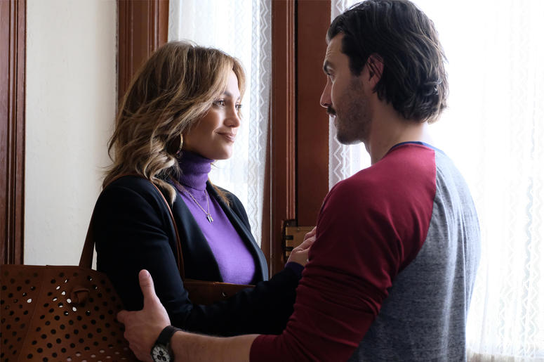 "Jennifer Lopez and Milo Ventimiglia in ""Second Act"""