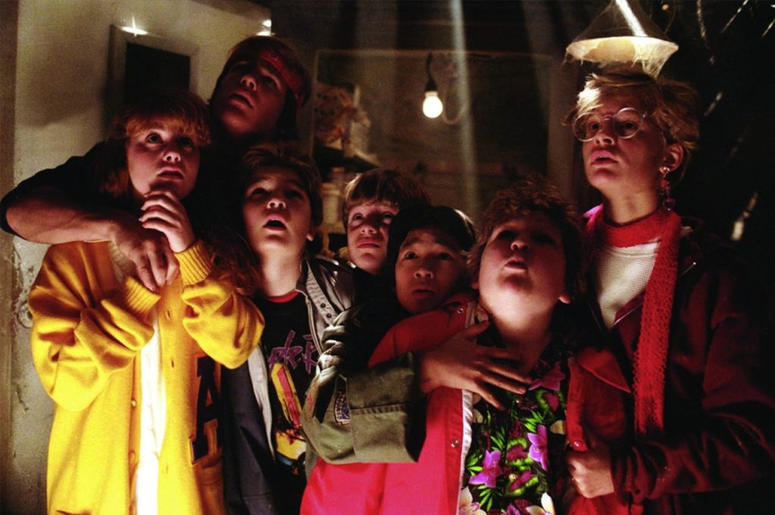 "Cast of ""The Goonies"" (Photo credit: Warner Bros)"