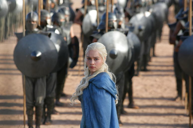 """Emilia Clarke in a scene from """"Game of Thrones."""""""