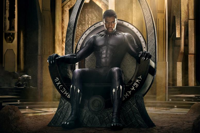 "Chadwick Boseman as ""Black Panther"""