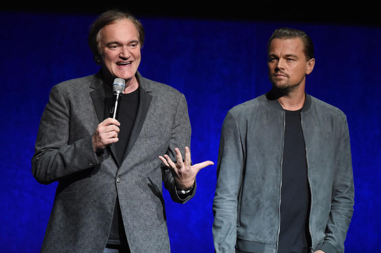 Director Quentin Tarantino and actor Leonardo DiCaprio
