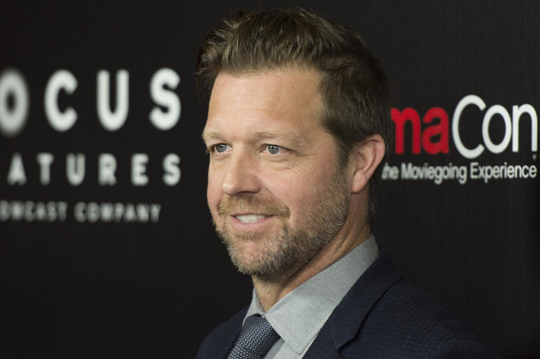 David Leitch arrives to the Focus Features red carpet during CinemaCon at Caesars Palace in Las Vegas, Nev., on March 29, 2017. (Photo by Jason Ogulnik)