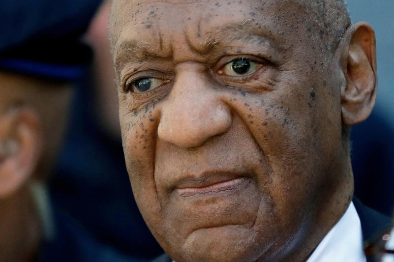 In this April 26, 2018, file photo, actor and comedian Bill Cosby leaves the courthouse after he was found guilty in his sexual assault retrial at the Montgomery County Courthouse in Norristown, Pa. Prosecutors in the sexual assault case against Cosby hav