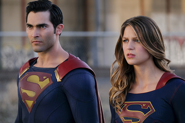 Tyler Hoechlin as 'Superman' and Melissa Benoist as 'Supergirl' (Photo credit: The CW)
