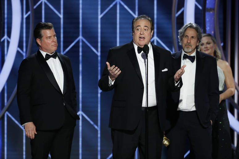 Jan 6, 2019; Beverly Hills, CA, USA; Nick Vallelonga, winner of Best Screenplay - Motion Picture during the 76th Golden Globe Awards at the Beverly Hilton. Mandatory Credit: Paul Drinkwater/NBC via USA TODAY NETWORK
