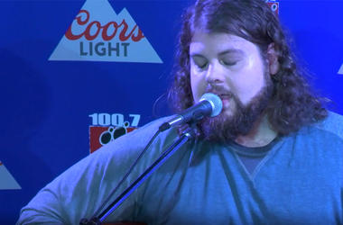 DILLON CARMICHAEL IN THE WOLF COORS LIGHT STUDIO