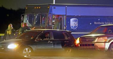 Chase with stolen UPS truck ends with shootout, 4 dead