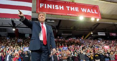 President Trump held a rally Monday at the El Paso County Coliseum, days after delivering his State of the Union address.