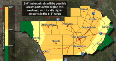 Tropical moisture returns, heavy rains possible through this weekend
