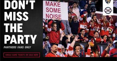 Pre-sale for single game tickets is happening today 10am-10pm