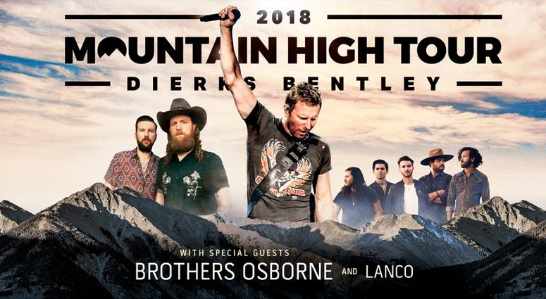 dierks bentley mountain high tour 2018 | news 1110am 99.3fm wbt