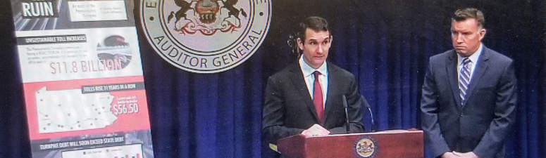 """State AG News Conference: Second Audit of PA Turnpike..""""Road To Ruin"""""""