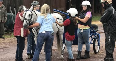 The Harness Horse Youth Campers at the Downs at Mohegan Sun Pocono