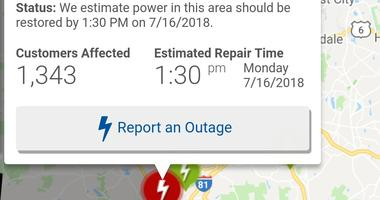 Power Outage in Wilkes Barre City