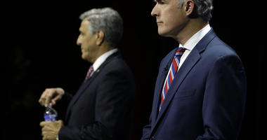Casey, Barletta debate ends in emotional exchange over TV ad