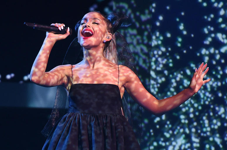 Ariana Grande performs at the 2018 Billboard Music Awards