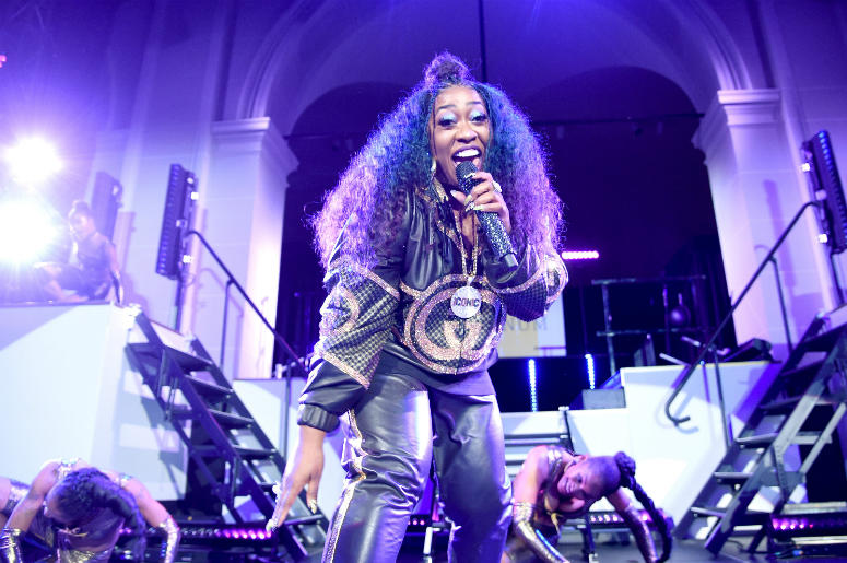 Missy Elliott performs her chart-topping hits at the Yellow Ball, hosted by American Express and Pharrell Williams, at the Brooklyn Museum on September 10, 2018 on September 10, 2018 in New York, New York.