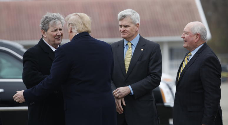 Trump promotes trade policies to farmers in New Orleans