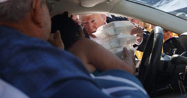 Trump: 'We will be 100 percent' with Florence storm victims