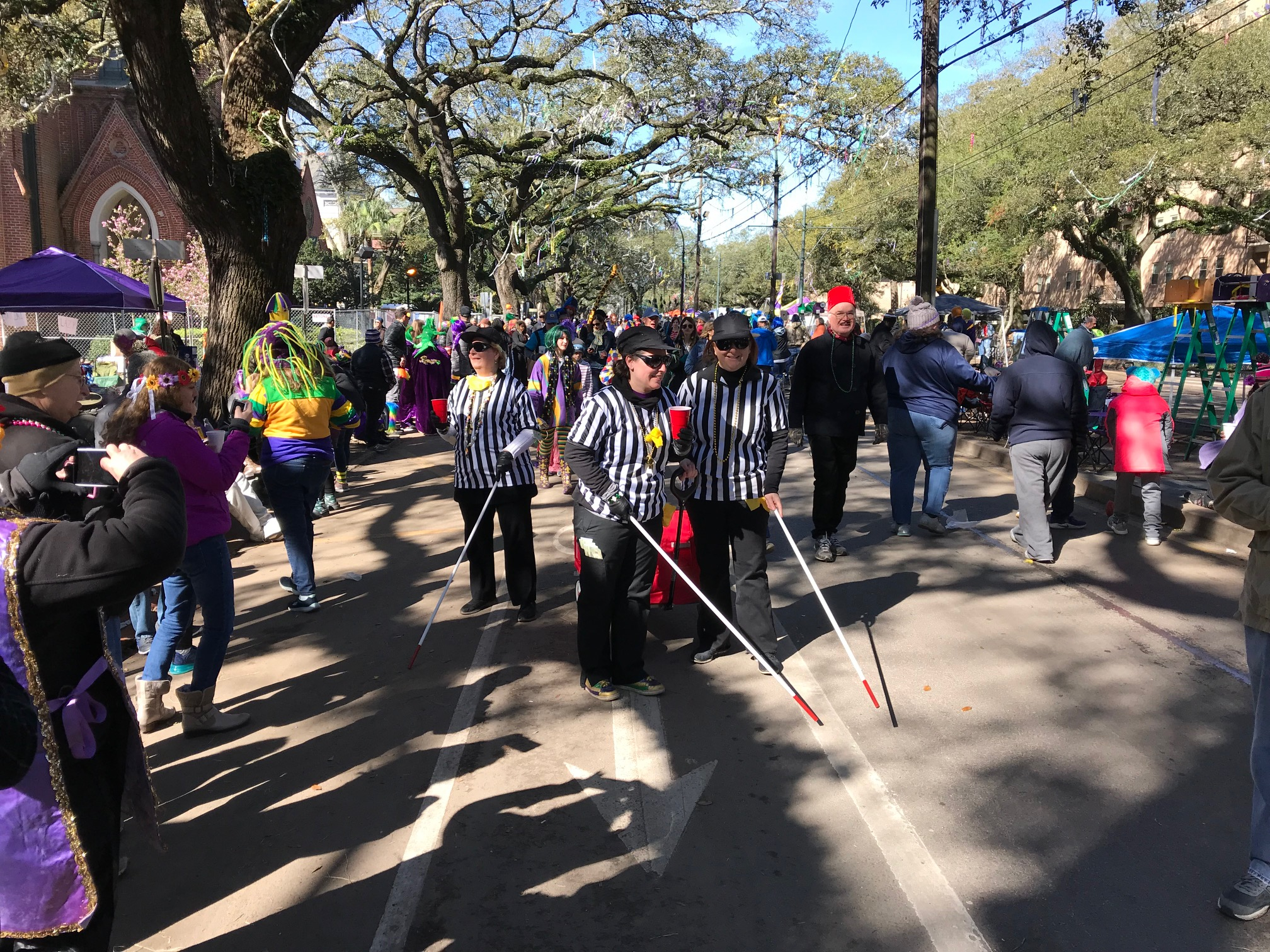 Nfl Refs Not Throwing Any Flags On Mardi Gras Costuming Wwl