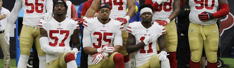 49ers' Harold declines to say why he's standing for anthem