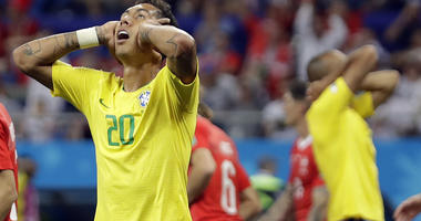 The Latest: Switzerland holds Brazil to 1-1 draw in WCup