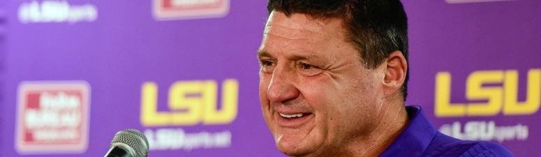 Here's everything Ed Orgeron said at SEC Media Days