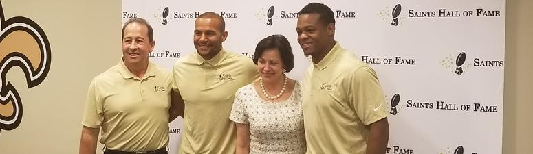 Lance Moore and Pierre Thomas headed into Saints Hall of Fame