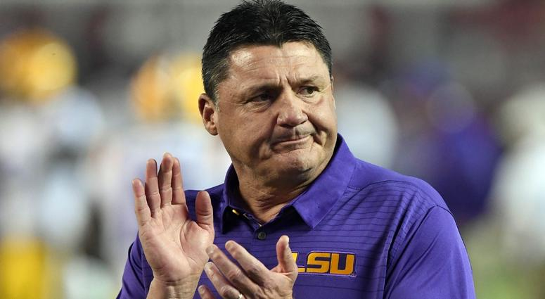 lsu coach ed orgeron ol adrian magee will play saturday against ole miss wwl. Black Bedroom Furniture Sets. Home Design Ideas