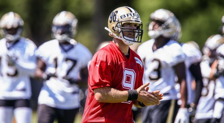 Drew Brees Saints OTA