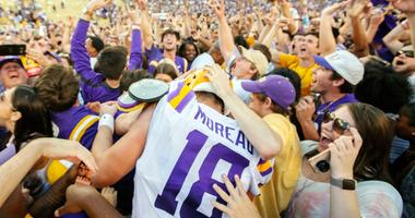 Photos: LSU Fans Rush the Field