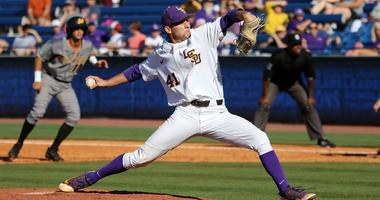 LSU pitcher Caleb Gilbert at the SEC Tournament