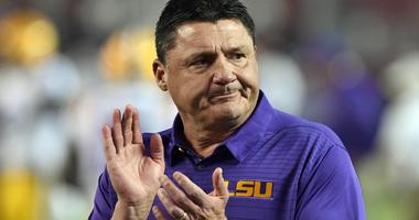 Coach O, Aranda and Ensminger join WWL for LSU Tiger Football Caravan stop